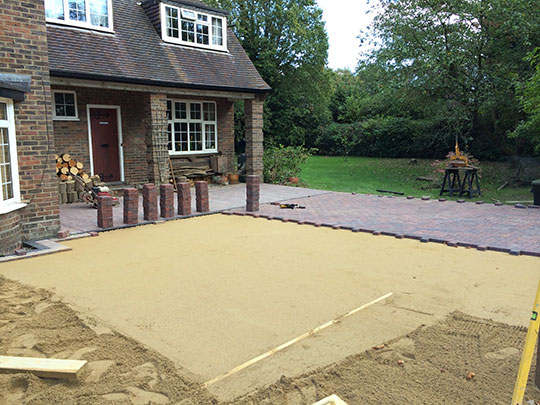 preparing to install driveways